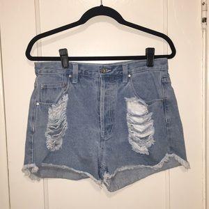 MINKPINK Slasher Denim Shorts